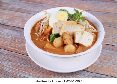 Curry mee is a popular food in Penang