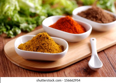 curry and other spices in the bowl