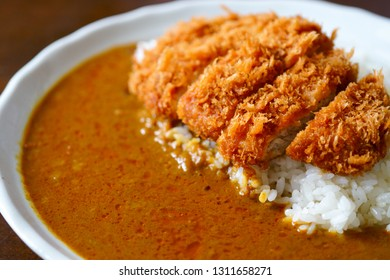 curry with pork cutlet.