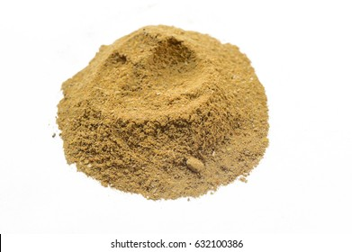 curry powder isolated on white
