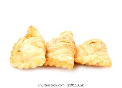 curry puff isolated on white background