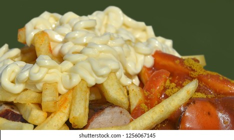 Currywurst with french fries