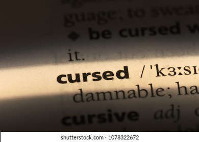 cursed word in a dictionary. cursed concept