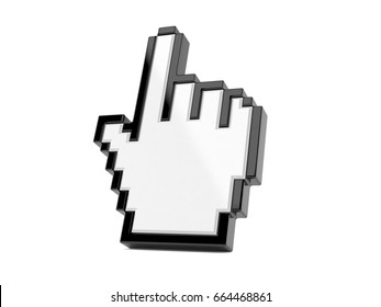 Cursor icon isolated on white background. 3d illustration