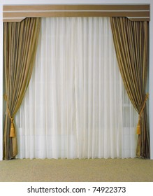 The curtain with blank space need your decoration stuffs to putting in