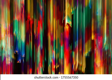 Curtain of multicoloured light. Abstract