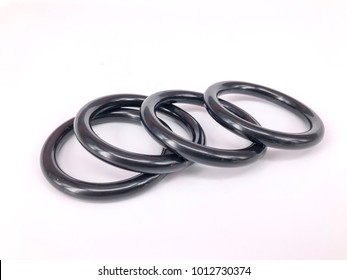 Curtain Rings on White Background