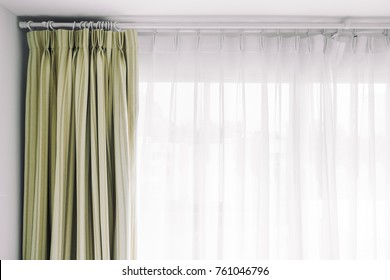 Curtain and window decoration interior of room