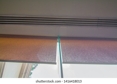 Curtains in the building with air conditioning.