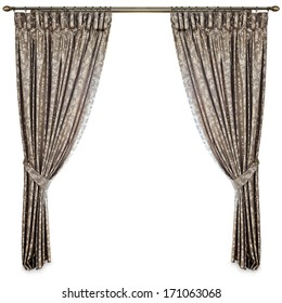 curtains on a white background