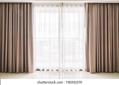 Curtains window decoration interior of room