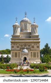 CURTEA DE ARGES, ROMANIA -JULI 24,2016 Romanian Orthodox Cathedral of Curtea de Arges. Arges Monastery located on Romania.