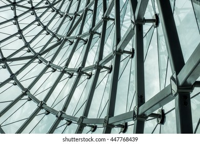 Curve and Line Glass Structure Architecture Big Building in the Metropolitan