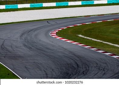 Curve on racing circuit