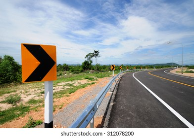 Curve road in Thailand.