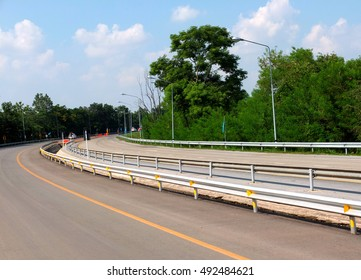 Curve road in various of contour with blue sky
