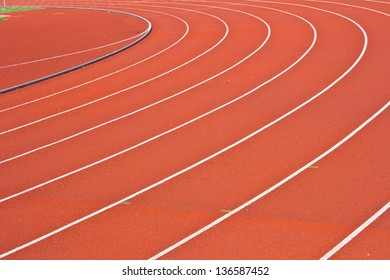 Curve of running track rubber standard red color