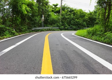 Curve Way on the road
