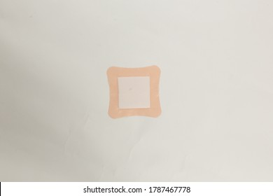 "Curved Edges Squre Medical Adhesive Patch "" Top Back View """