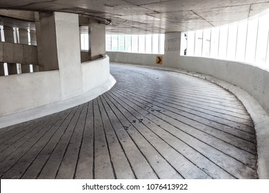 Curved on the building for parking