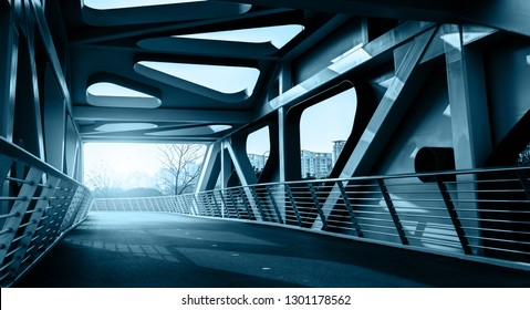 Curved steel girder bridge and highway pavement