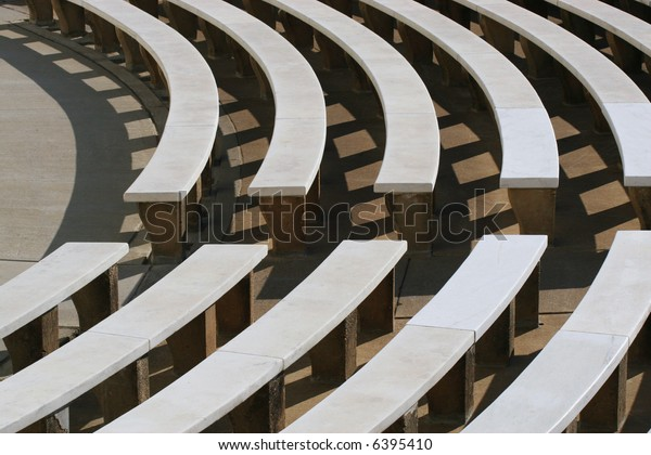 Astounding Curved Stone Benches Outdoor Audience Seating Stock Photo Gmtry Best Dining Table And Chair Ideas Images Gmtryco