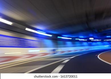 Curved underpass, Tokyo Metropolitan Expressway