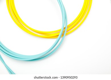 curves, circles and colored semicircles, generated by colored wires