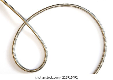 curves formed by a flexible metal hose