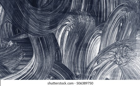 Curves grunge brush strokes hand painted abstract background