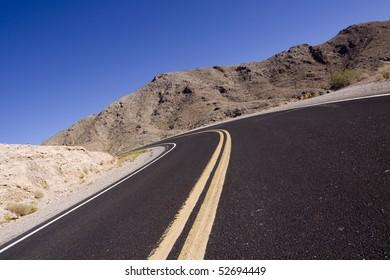 Curvy asphalt road