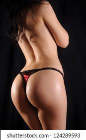 Curvy female body