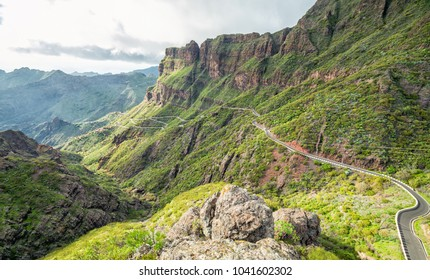 Curvy road to Masca village, Tenerife