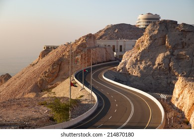 Curvy road through the Jebel Hafeet road, Al Ain, United Arab Emirates