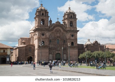 CUSCO, PERU - circa september 2017: Cathedral church in Plaza de Armas, Cusco, Peru, South America