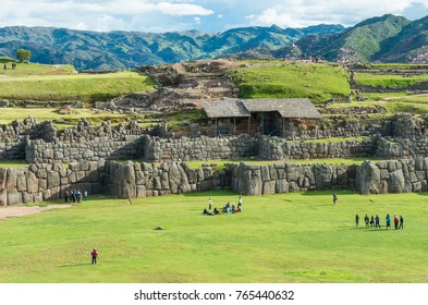 Cusco, Peru - March 8, 2015: Sacsayhuaman, Inca ruins in Cusco, Peru