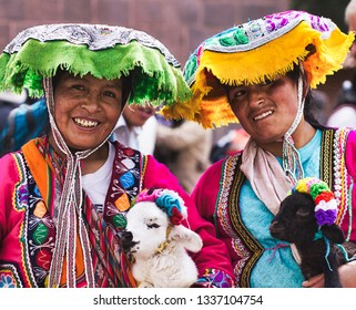 Cusco, Peru. October 2, 2015. Indigenous Quechua women.