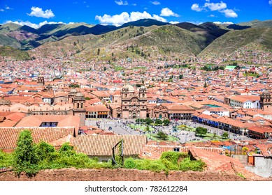 Cusco, Peru - Plaza de Armas, medieval center of Cuzco city (former capital of Inca Empire). Andes Mountains, South America.