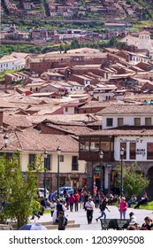Cusco/Peru - May 10, 2017: Peruvian on the streets of Cusco city, Peru.