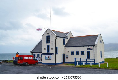 CUSHENDALL, NORTHERN IRELAND - MAY 20, 2011: Red  Bay Lifeboat Station. RNLI Lifeboat crews provide 24-hour search and rescue service.