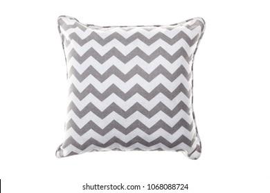 Cushion cloth gray chevron