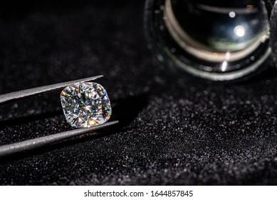Cushion Cut Diamond. Luxury Gemstone