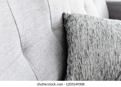 Cushion on sofa