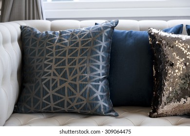 cushion on sofa at home