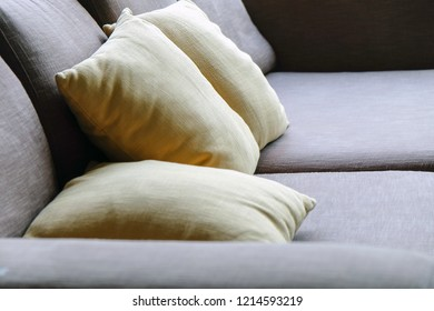 Cushion on sofa, Living Room Detail