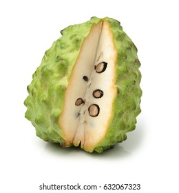 Custard apple isolated on white background,annona