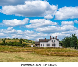 Custer House at Fort Abraham Lincoln State Park in North Dakota