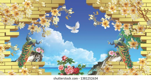 3d Mural Images Stock Photos Vectors Shutterstock