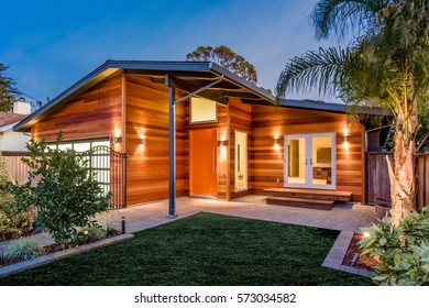 Custom Built California Rustic Home At Sunset