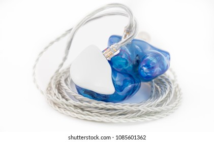 Custom in ear monitors or IEMs ready for a musician to wear on stage at a concert in Oregon.